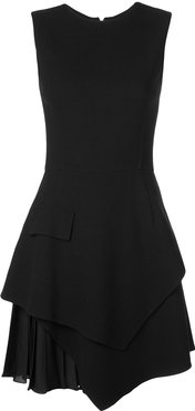 asymmetric dress - Black
