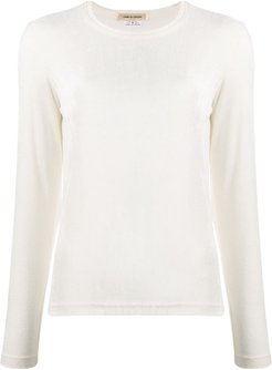 knitted long sleeved top - White
