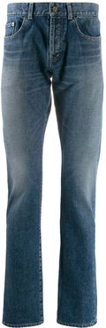 stonewashed straight-leg jeans - Blue