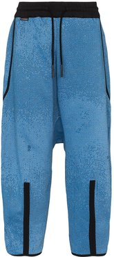 dropped crotch oversized trousers - Blue