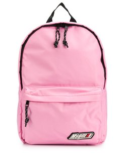 logo-patch backpack - PINK