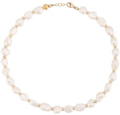 freshwater pearl necklace - White