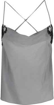 cowl-neck camisole top - SILVER