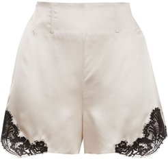 silk and lace shorts - NEUTRALS