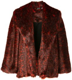 short topper coat - Red