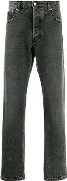 straight leg denim jeans - Black
