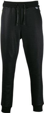 tapered leg zip joggers - Black