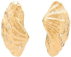 large shell earrings - GOLD