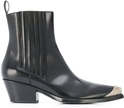 western style ankle boots - Black