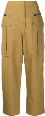 cropped cargo trousers - Brown