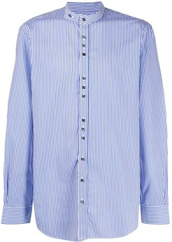 Jarvis pinstriped shirt - Blue