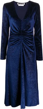 number 7 ruched midi dress - Blue