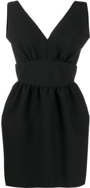 low-back dress - Black