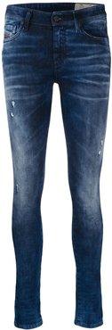 slim faded jeans - Blue