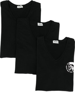 Only The Brave logo T-shirt three-pack - Black