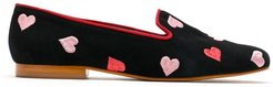Hearts suede loafers - Black