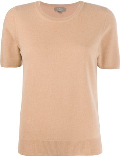 cashmere short-sleeved top - Brown