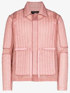 quilted panel jacket
