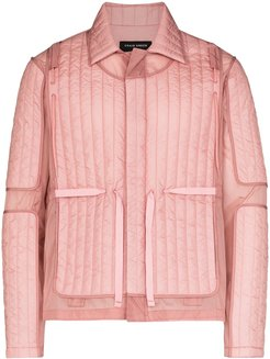quilted fitted jacket - PINK