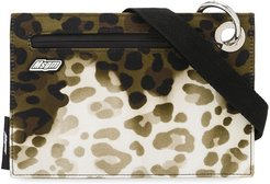 leopard-print pouch - Green