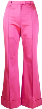 tailored satin trousers - PINK