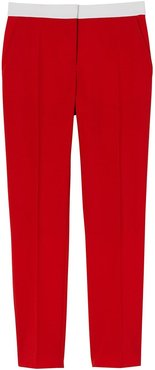 two-tone wool tailored trousers