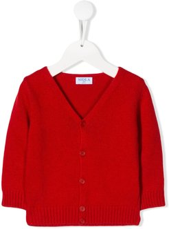V-neck cardigan - Red