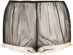 x Caroline Vreeland microphone sheer shorts - Black