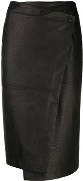 fitted pencil skirt - Black