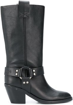 mid-calf buckled boots - Black