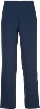 crepe straight trousers - Blue
