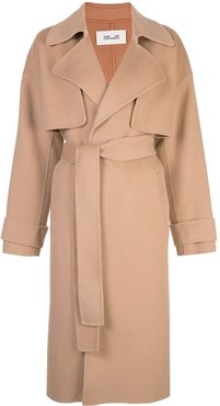 Lia belted trench coat - Brown