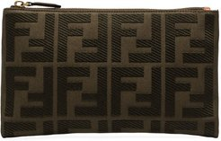 FF motif clutch bag - Green