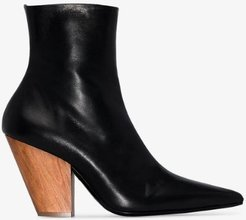 black Pack 100 leather ankle boots