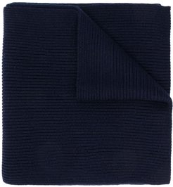 ribbed scarf - Blue