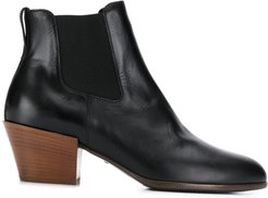 elasticated panel ankle boots - Black