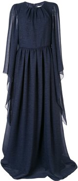 draped kaftan gown - Blue