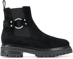 side buckle boots - Black