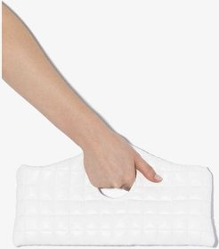 white Liv quilted clutch bag