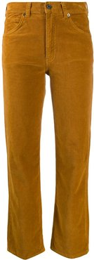 corduroy cropped trousers - Brown