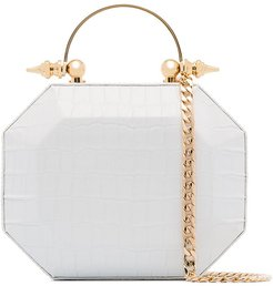 Octabox clutch bag - White