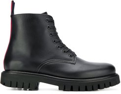 chunky lace-up boots - Black