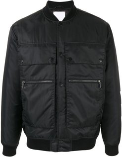 utility bomber jacket - Black
