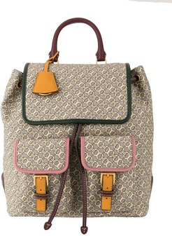 Perry jacquard flap backpack - NEUTRALS
