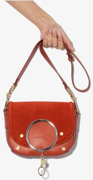 See by Chloé Red suede and leather cross body ring bag