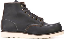 contrast stitching combat boots - Brown