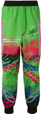 x OLK Racing printed track trousers - Multicolour
