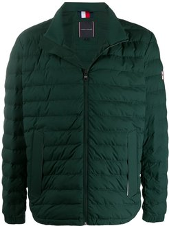 zipped padded jacket - Green