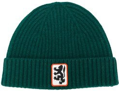 Reissued lion badge beanie - Green