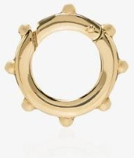 18K yellow gold Dotted Chubby Annex Link necklace charm